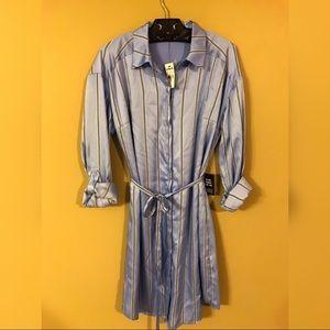Express Striped Shirt Dress - Size Small